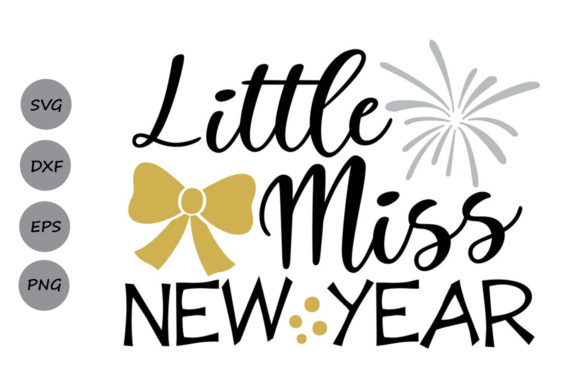 Little Miss New Year Graphic By Cosmosfineart Creative Fabrica