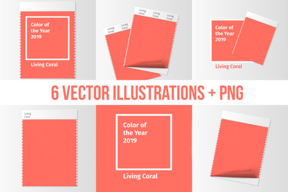 Living Coral 2019 Vector Pack Graphic By ilonitta.r Image 3