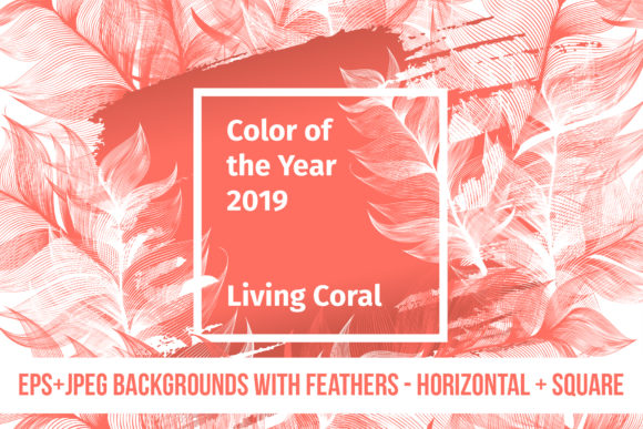 Living Coral 2019 Vector Pack Graphic By ilonitta.r Image 4