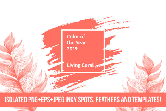 Living Coral 2019 Vector Pack Graphic By ilonitta.r Image 5