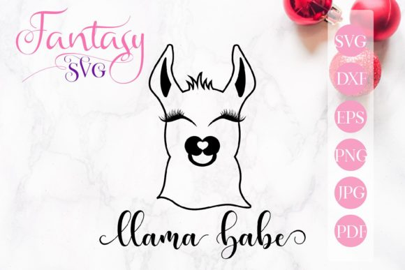 Print on Demand: Llama Babe Svg Graphic Crafts By Fantasy SVG