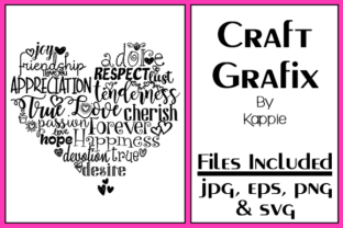 Love Heart Graphic By Grafix by Kappie