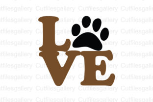 Download Free Love Paw Graphic By Cutfilesgallery Creative Fabrica for Cricut Explore, Silhouette and other cutting machines.