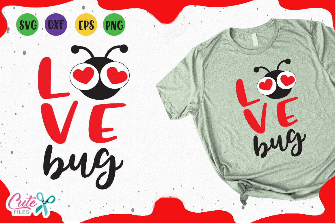 Download Love Bug Svg (Graphic) by Cute files · Creative Fabrica