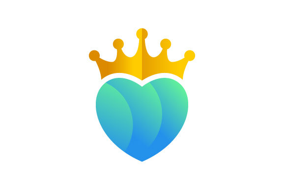 Download Free Love Heart King Vector Logo Graphic By Hartgraphic Creative for Cricut Explore, Silhouette and other cutting machines.