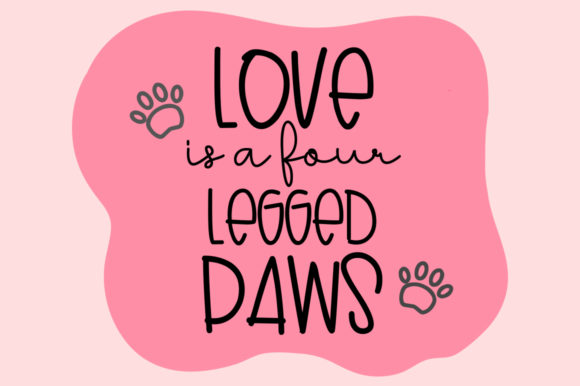 Print on Demand: Lovely Puppy Duo Sans Serif Font By dmletter31 - Image 5