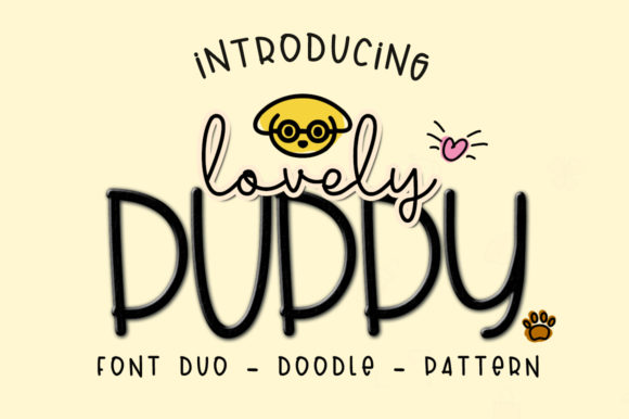 Lovely Puppy Duo Sans Serif Font By dmletter31