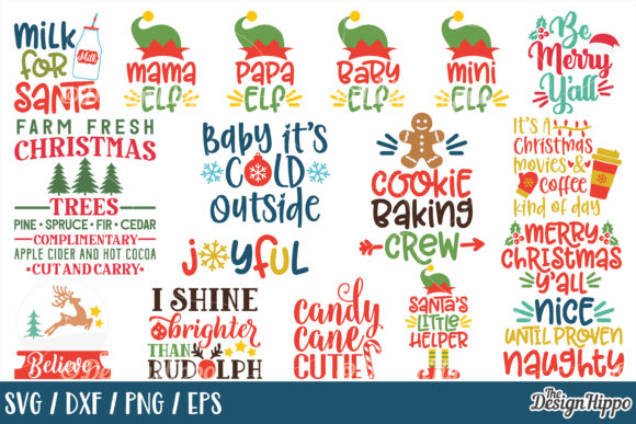 Download Free Mega Christmas Bundle Graphic By Thedesignhippo Creative Fabrica for Cricut Explore, Silhouette and other cutting machines.