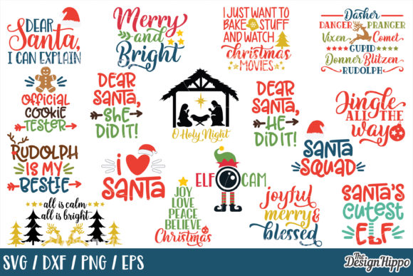 Download Free Mega Christmas Bundle Grafik Von Thedesignhippo Creative Fabrica for Cricut Explore, Silhouette and other cutting machines.