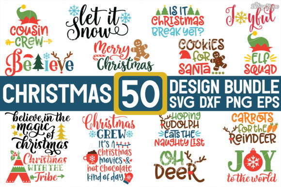 MEGA Christmas SVG Bundle Graphic Crafts By thedesignhippo
