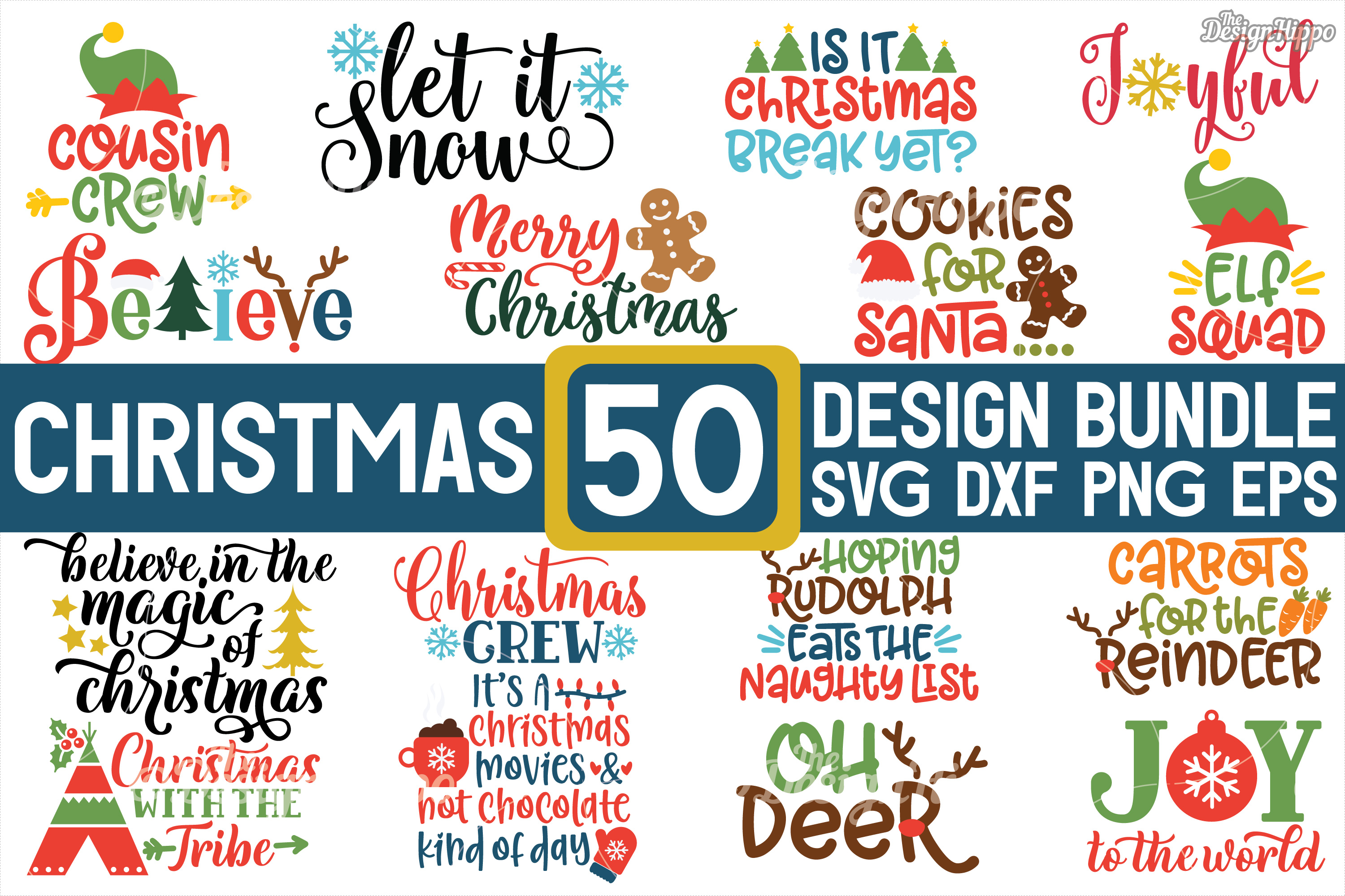 Download Free Mega Christmas Bundle Graphic By Thedesignhippo Creative Fabrica SVG Cut Files