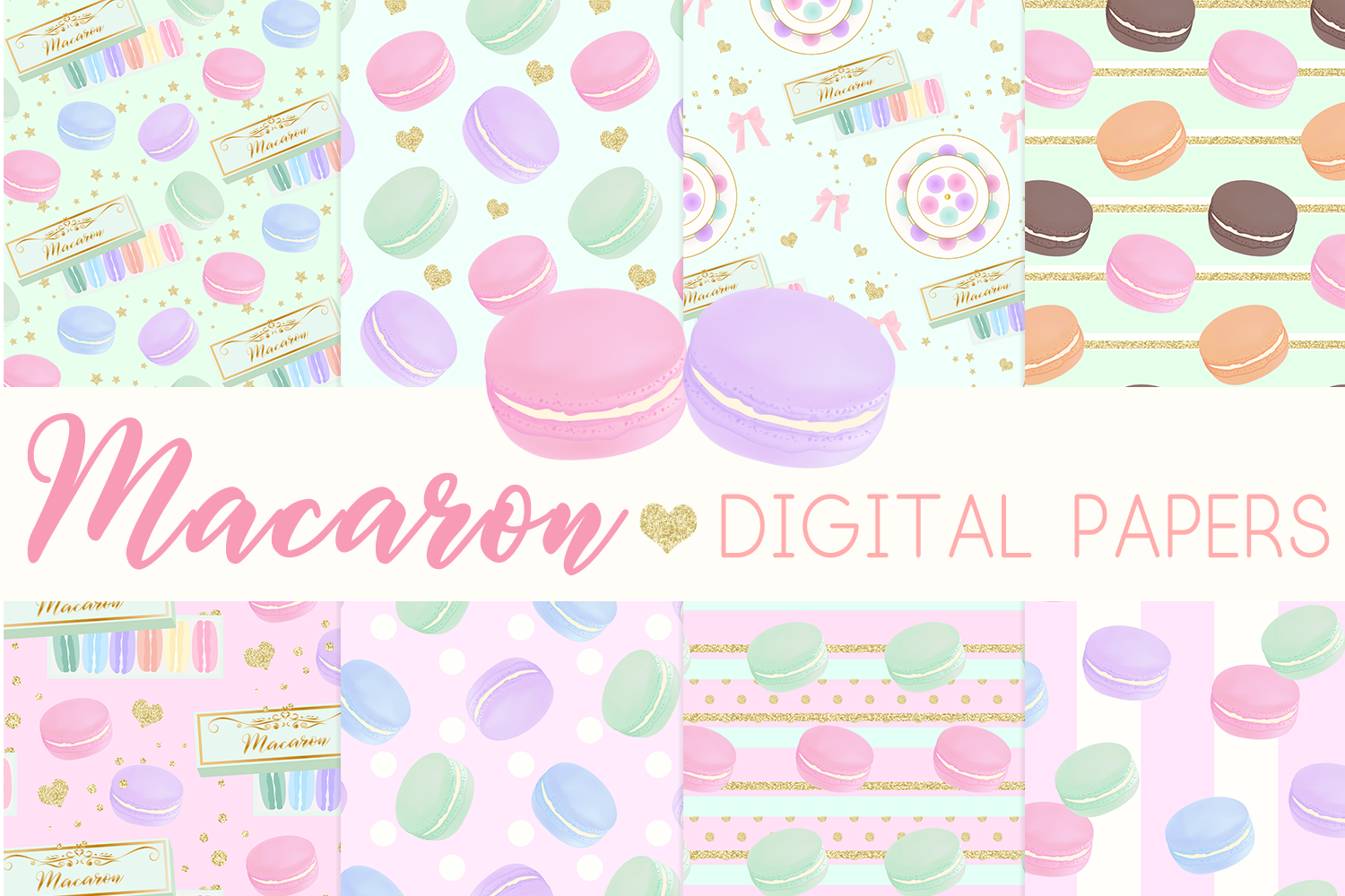 Download Free Macaron Digital Papers Seamless Pattern Graphic By Lilyuri0205 for Cricut Explore, Silhouette and other cutting machines.