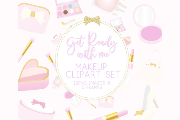Print on Demand: Makeup Clipart Graphic Illustrations By lilyuri0205