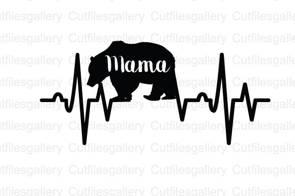 Download Free Mama Bear Heartbeat Svg Graphic By Cutfilesgallery Creative SVG Cut Files