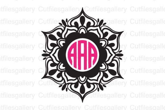 Download Free Mandala Monogram Graphic By Cutfilesgallery Creative Fabrica for Cricut Explore, Silhouette and other cutting machines.