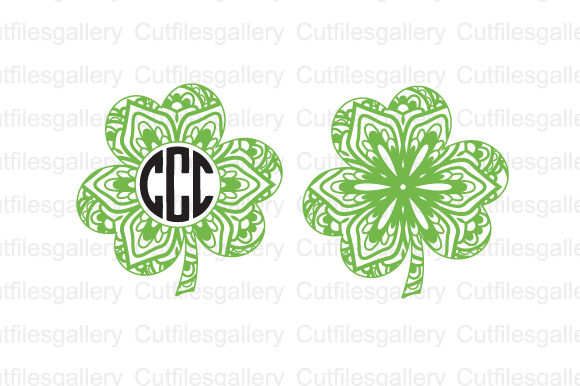 Download Free Mandala Shamrock Graphic By Cutfilesgallery Creative Fabrica for Cricut Explore, Silhouette and other cutting machines.