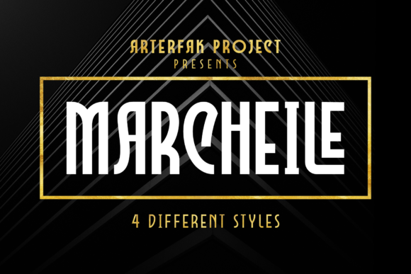 Print on Demand: Marcheile Display Font By Arterfak Project