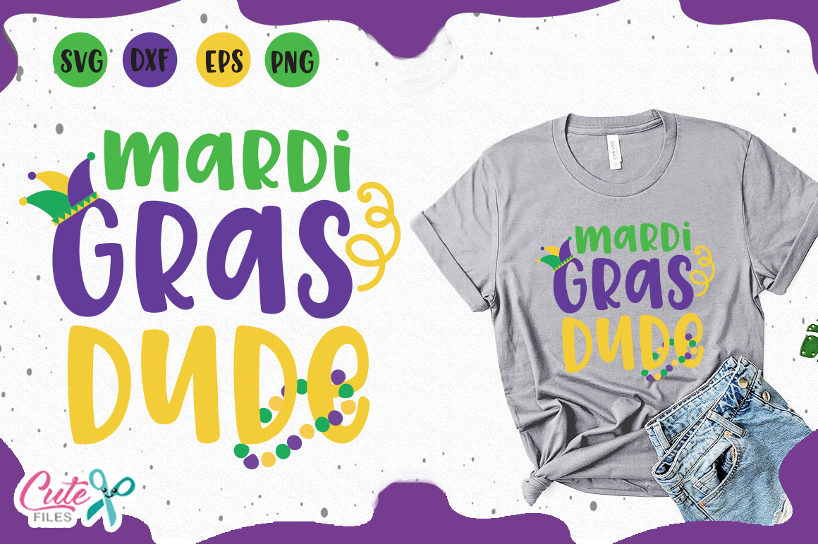 Download Free Mardi Gras Dude Svg Graphic By Cute Files Creative Fabrica for Cricut Explore, Silhouette and other cutting machines.