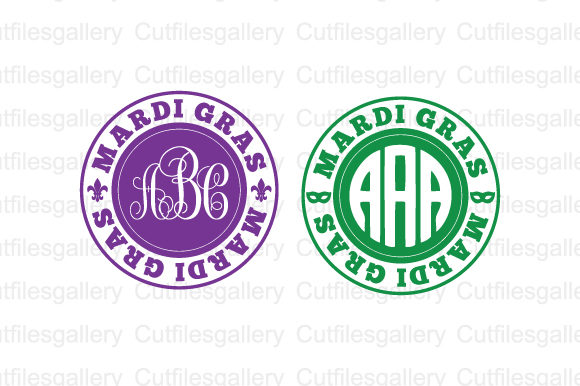 Download Free Mardi Gras Monogram Svg Graphic By Cutfilesgallery Creative for Cricut Explore, Silhouette and other cutting machines.