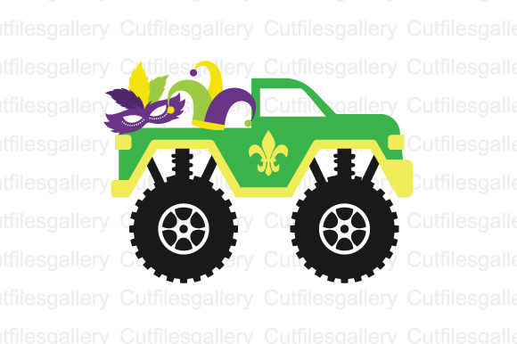 Download Free Mardi Gras Truck Svg Graphic By Cutfilesgallery Creative Fabrica for Cricut Explore, Silhouette and other cutting machines.