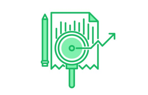 Download Free Market Research Icon Grafico Por Back1design1 Creative Fabrica for Cricut Explore, Silhouette and other cutting machines.
