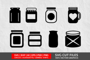 Download Free Mason Jars Graphic By Design Palace Creative Fabrica for Cricut Explore, Silhouette and other cutting machines.