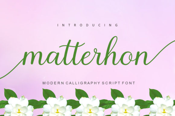 Print on Demand: Matterhon Script Script & Handwritten Font By Encolab - Image 1