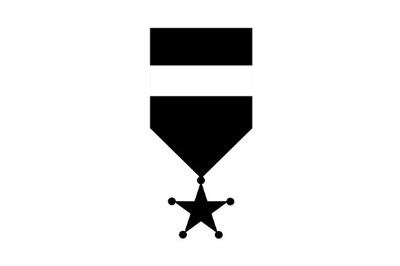 Medal Monochrome Icon EPS 10 Graphic Icons By saipulkhurasan