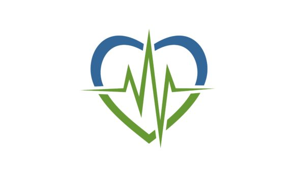 Download Free Medical Love Pulse Logo Graphic By Deemka Studio Creative Fabrica for Cricut Explore, Silhouette and other cutting machines.