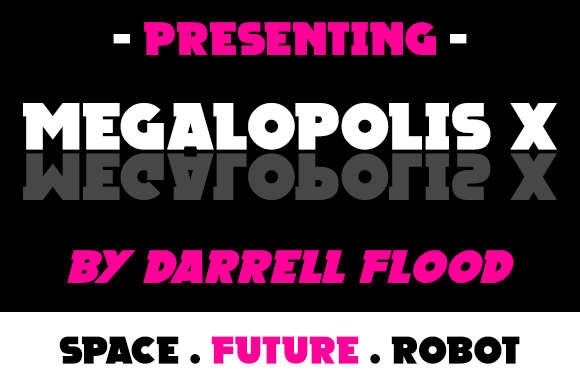 Print on Demand: Megalopolis X Serif Font By Dadiomouse