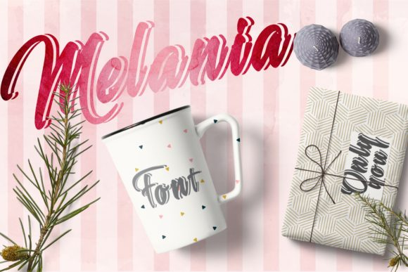 Print on Demand: Melania Script & Handwritten Font By bywahtung - Image 5