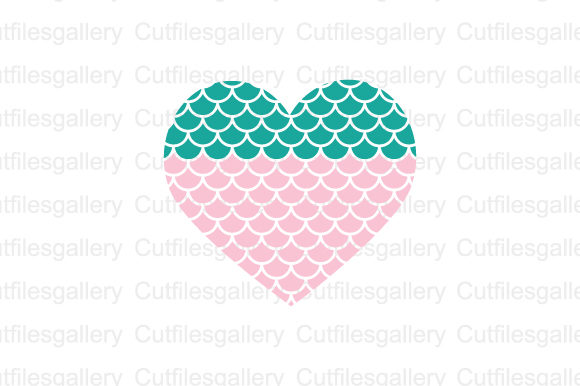 Download Free Mermaid Heart Graphic By Cutfilesgallery Creative Fabrica for Cricut Explore, Silhouette and other cutting machines.
