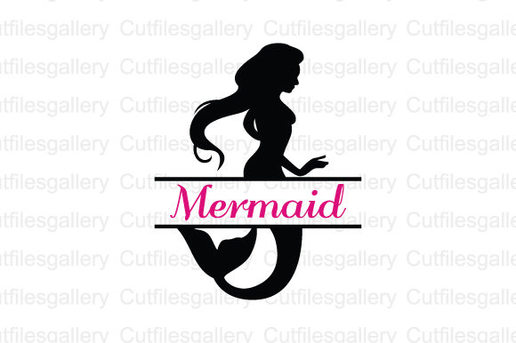 Download Free Mermaid Monogram Graphic By Cutfilesgallery Creative Fabrica for Cricut Explore, Silhouette and other cutting machines.