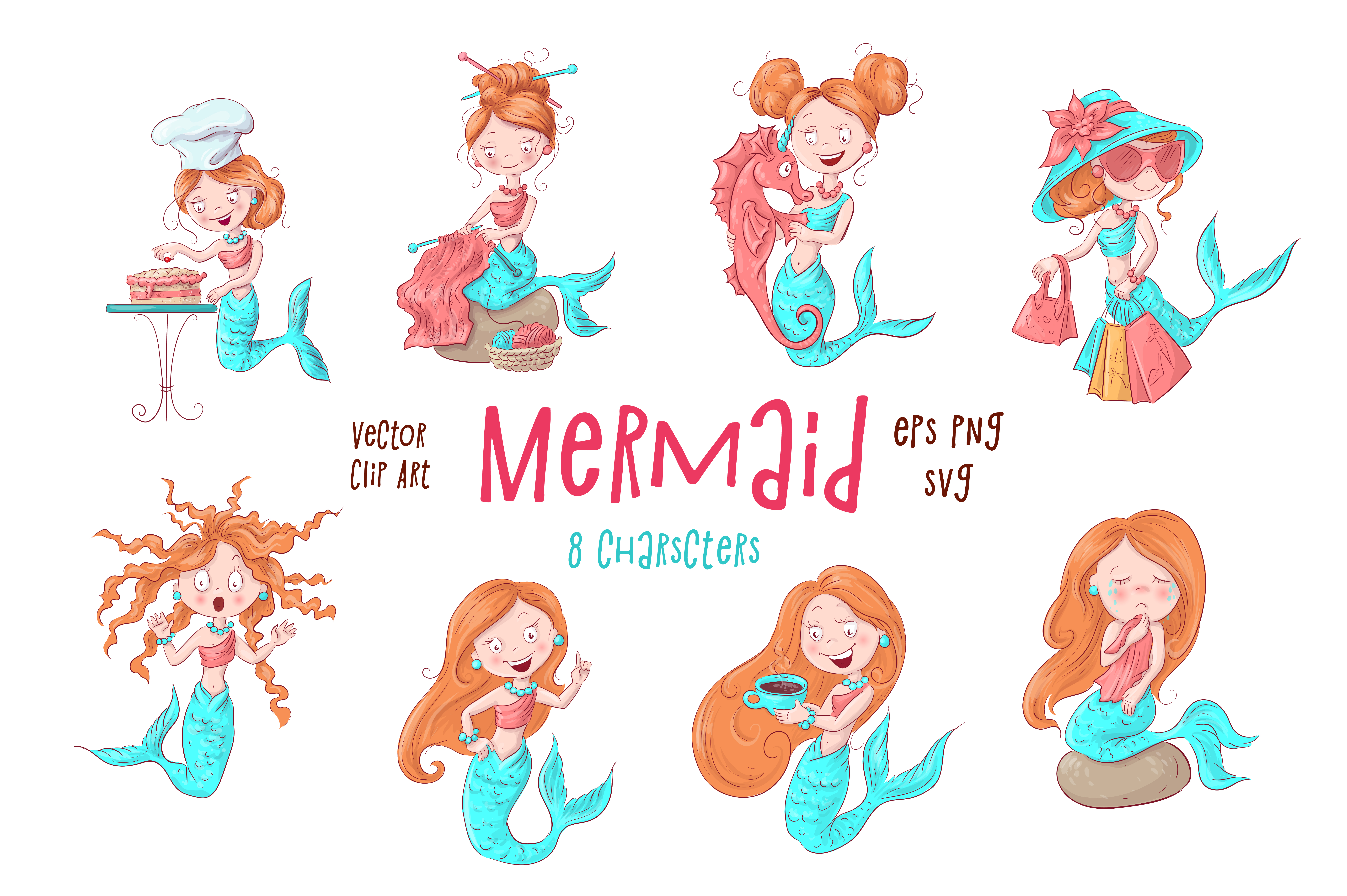 Download Free Mermaid Graphic By Nicjulia Creative Fabrica for Cricut Explore, Silhouette and other cutting machines.