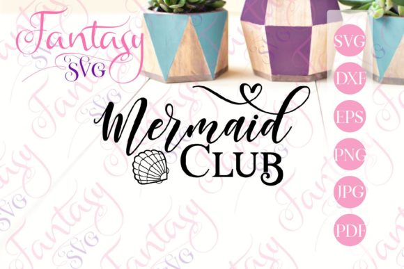 Print on Demand: Mermaid Club Svg Graphic Crafts By Fantasy SVG