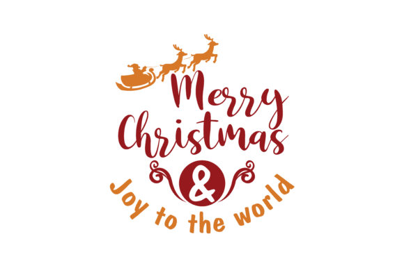 Download Free Merry Christmas Joy To The World Svg Cut Graphic By Thelucky for Cricut Explore, Silhouette and other cutting machines.