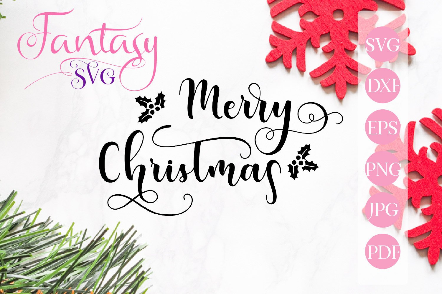 Download Free Merry Christmas Svg Graphic By Fantasy Svg Creative Fabrica for Cricut Explore, Silhouette and other cutting machines.