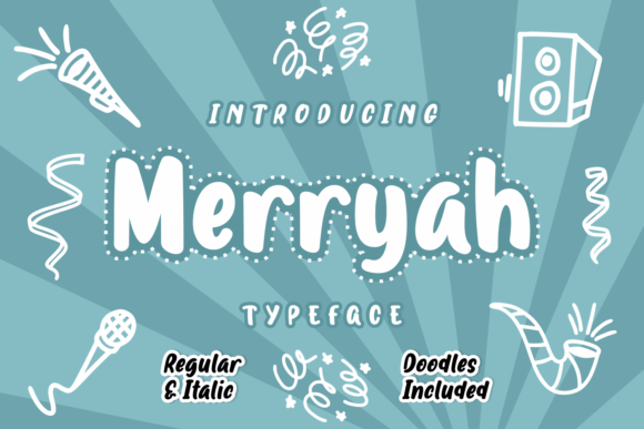 Print on Demand: Merryah Script & Handwritten Font By Rifki (7ntypes)