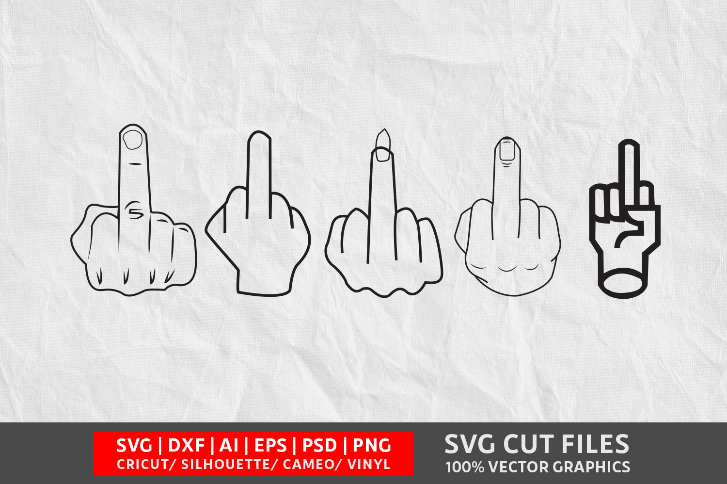 Download Free Middle Finger Graphic By Design Palace Creative Fabrica for Cricut Explore, Silhouette and other cutting machines.