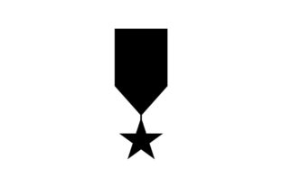 Download Free Military Badge Monochrome Black Con Vector Graphic By Hoeda80 for Cricut Explore, Silhouette and other cutting machines.