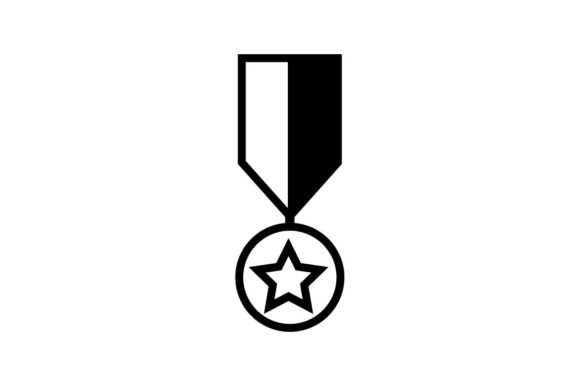 Download Free Military Badge Monochrome Icon Vector Eps 10 Graphic By for Cricut Explore, Silhouette and other cutting machines.