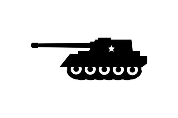 Download Free Military Tank Icon Vector Graphic By Hoeda80 Creative Fabrica for Cricut Explore, Silhouette and other cutting machines.