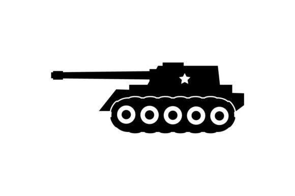military tank icon vector graphic by hoeda80 creative fabrica military tank icon vector