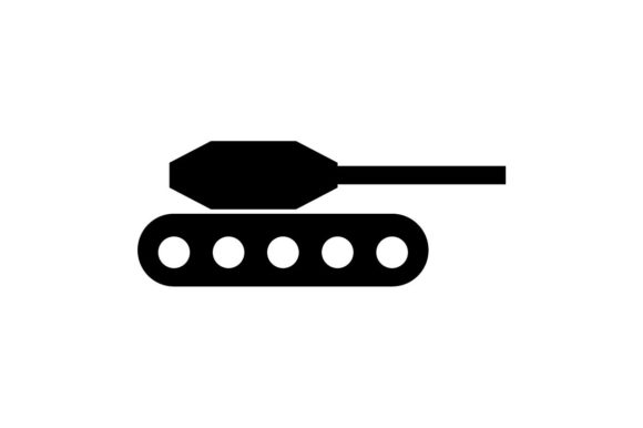 Download Free Military Tank Monochrome Icon Eps 10 Graphic By Hoeda80 SVG Cut Files