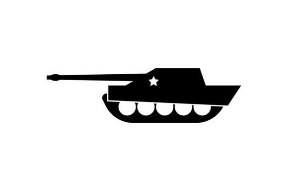 Military Tank Monochrome Icon EPS 10 Graphic Icons By Hoeda80