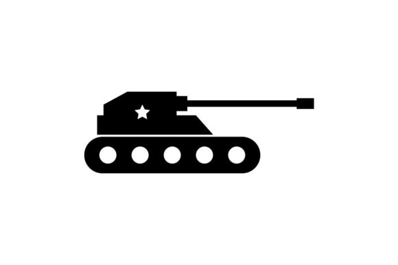 military tank monochrome icon graphic by hoeda80 creative fabrica military tank monochrome icon