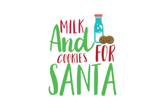 Download Free Milk And Cookies For Santa Svg Cut Graphic By Thelucky for Cricut Explore, Silhouette and other cutting machines.