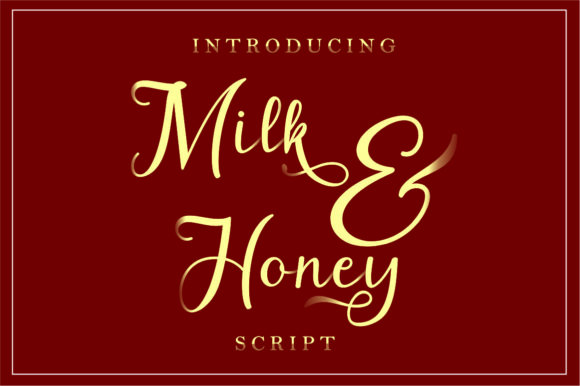 Download Free Milk Honey Font By Mfikryalif Creative Fabrica for Cricut Explore, Silhouette and other cutting machines.