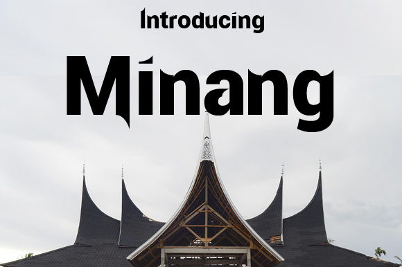 Minang Blackletter Font By da_only_aan