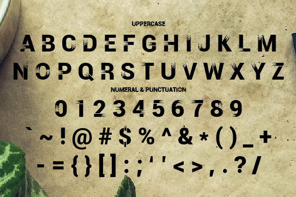 Print on Demand: Moca Display Font By da_only_aan - Image 2